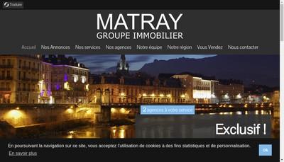 Site internet de Agence Matray SARL