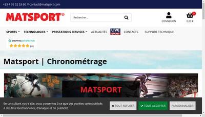 Site internet de Matsport