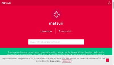 Site internet de Matsuri Restaurant la Defense