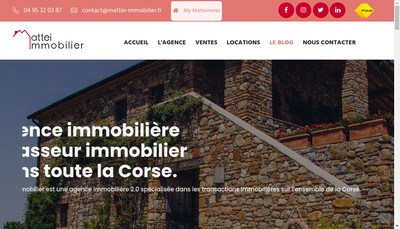 Site internet de Mattei Immobilier