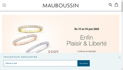 Site internet de Mauboussin SA