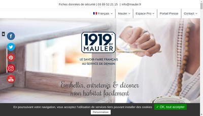 Site internet de Produits Mauler