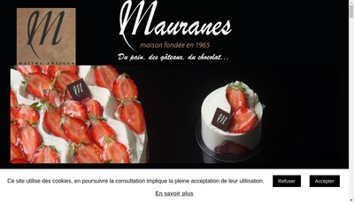 Site internet de Boulangerie Patisserie Mauranes