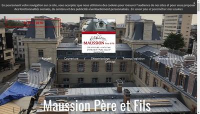 Site internet de Maussion Pere et Fils