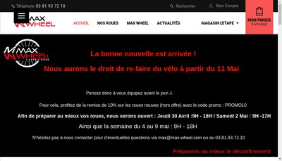 Site internet de Max-Wheel