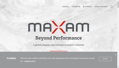 Site internet de Maxam Atlantique