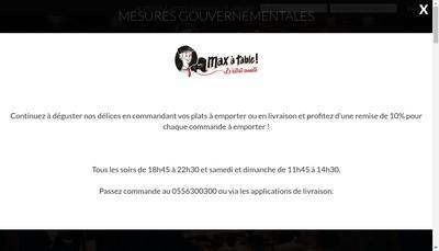 Site internet de Max a Table