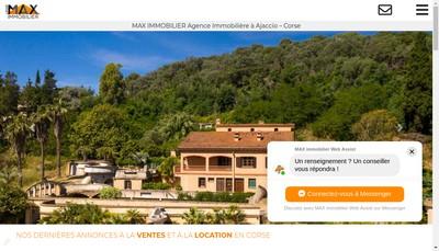 Site internet de Max Immobilier