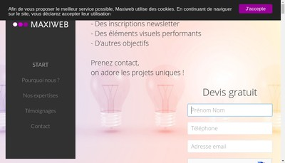 Site internet de Maxiweb
