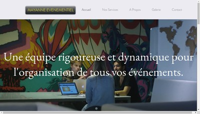 Site internet de Mayanne Evenementiel