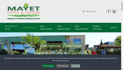 Site internet de Mayet Parcs & Jardins