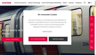 Site internet de Mayser France