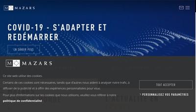 Site internet de Mazars Pontarlier