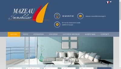Site internet de Agence Mazeau Immobilier