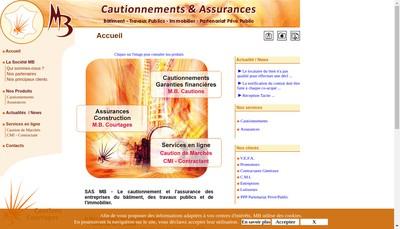 Site internet de Mb Courtages Mb Cautions Mb Garanties