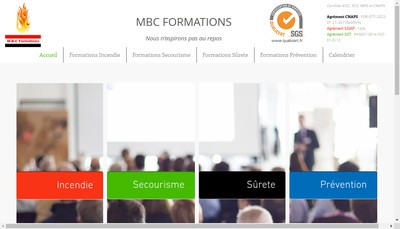 Site internet de Mbc Formations