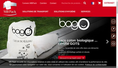 Site internet de Mb Pack