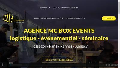 Site internet de Mc Box Events