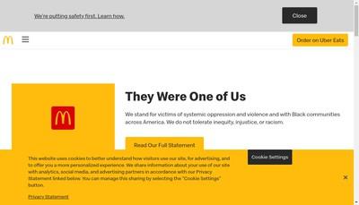 Site internet de Mac Donald'S