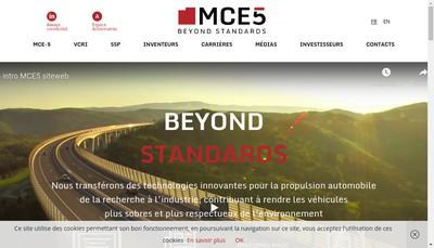 Site internet de Mce 5 Development