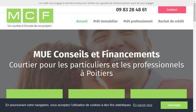 Site internet de Mue Conseils et Financements