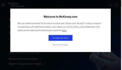 Site internet de Mckinsey & Compagny, SAS