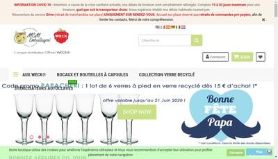 Site internet de MCM Emballages