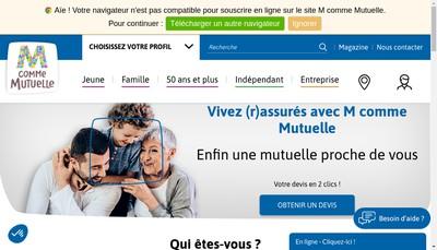 Site internet de M Comme Mutuelle Conseils