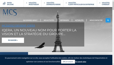 Site internet de MCS & Associes