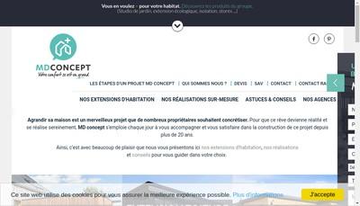 Site internet de Md Concept