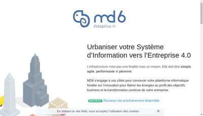 Site internet de Md6 Consulting