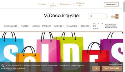 Site internet de M Deco Industriel