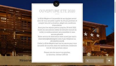 Site internet de Le M de Megeve