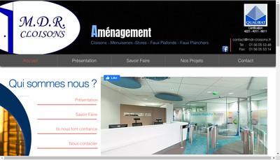 Site internet de Mdr Cloisons