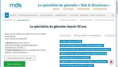 Site internet de Societe le Materiel de Sondage
