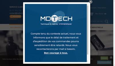 Site internet de Md Tech