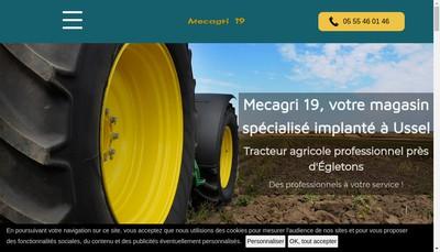 Site internet de Mecagri 19