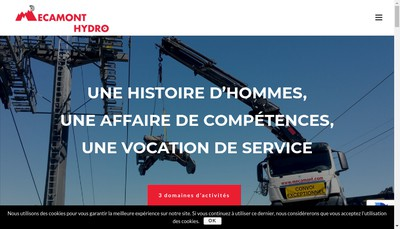 Site internet de Mecamont Hydro