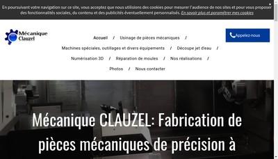 Site internet de Mecanique Clauzel