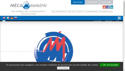 Site internet de Mecanumeric