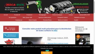 Site internet de Militec Meca Run Easy Control