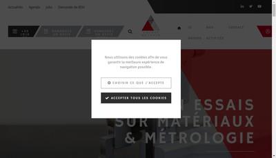 Site internet de Mecasem Metrologie
