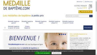 Site internet de 1000 Medailles de Bapteme
