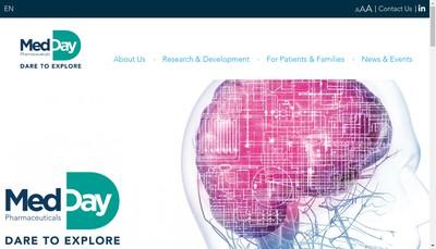 Site internet de Medday Pharmaceuticals