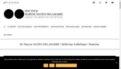 Site internet de Docteur Maryse Mateo Delamarre