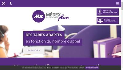 Site internet de Medexplan Secretariat