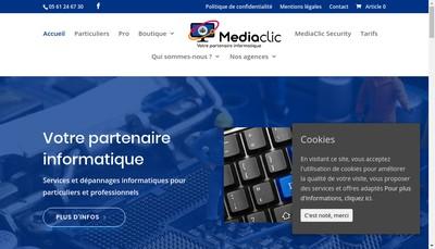 Site internet de Mediaclic Pro