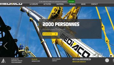 Site internet de Mediaco Levage