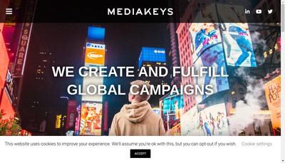 Site internet de Media Keys