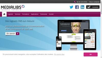Site internet de Medialibs